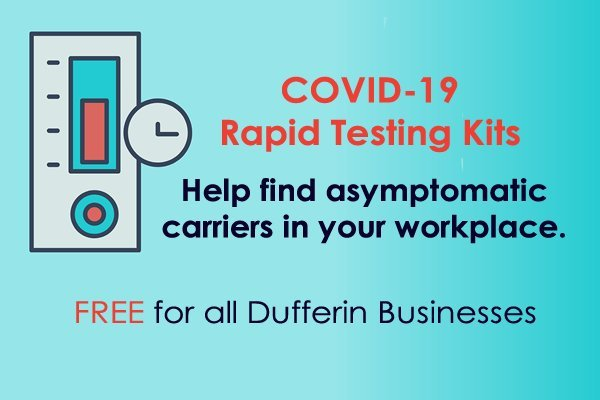 Workplace Rapid Antigen Test Kits – free for all Dufferin small businesses