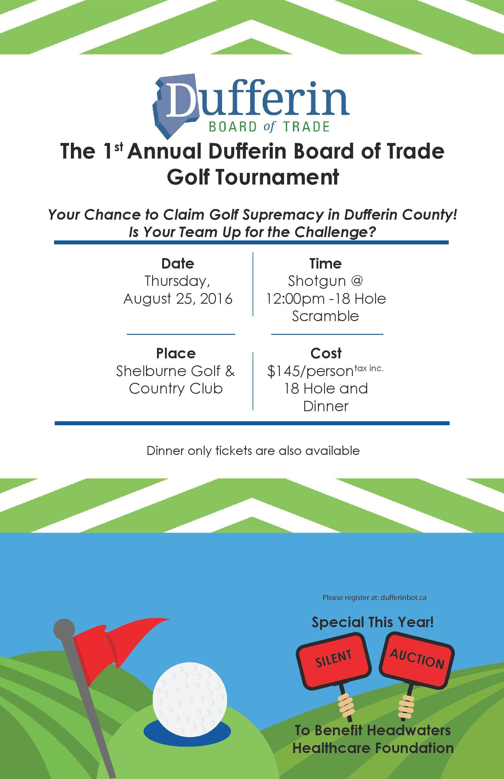 1st Annual Dufferin Board of Trade Golf Tournament ...