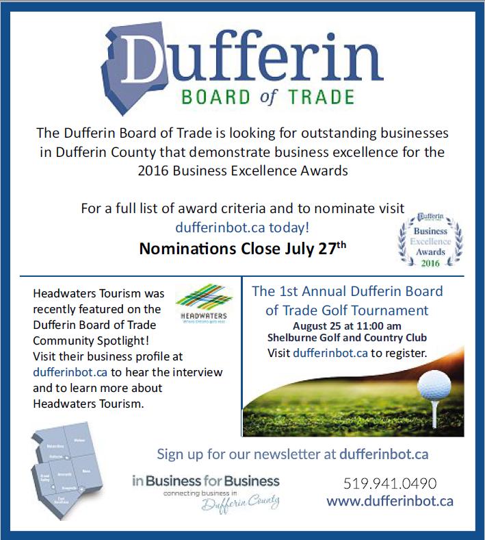 DBOT Advertising - Dufferin Board of Trade