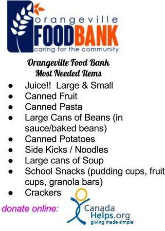Orangeville Food Bank - Dufferin Board of Trade
